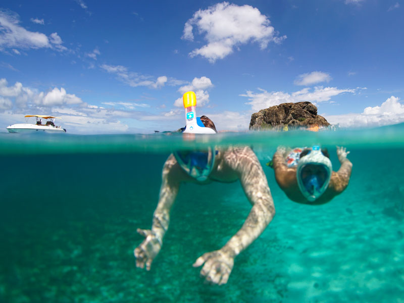 snorkeling at Creole Rock